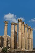 image of artemis  - Eight columns with capstones in the Temple of Artemis on a blue sky - JPG