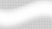 Halftone Gradient Pattern. Abstract Halftone Dots Background. Monochrome Dots Pattern. Pop Art, Comi poster