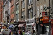 Famous Denmark Street in London