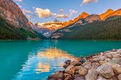 Lake Louise At Sunset.banff National Park. Alberta. Canada poster