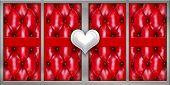Постер, плакат: Белое сердце любовь на красный текстуру