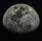 Earths Moon at Waxing gibbous phase photo poster
