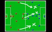 image of offside  - soocer coach board there team offensive tactics is shown - JPG