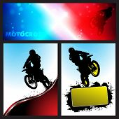 image of moto-x  - Vector motocross Collection background - JPG