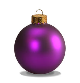 picture of christmas ornament  - purple christmas ball isolated on white with clipping path - JPG