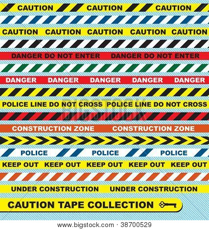 Caution Tape Labels