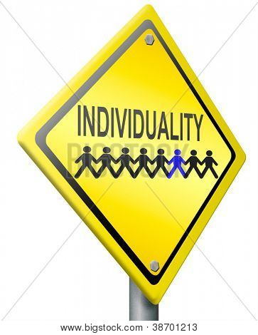 individuality personality and own character different from the others