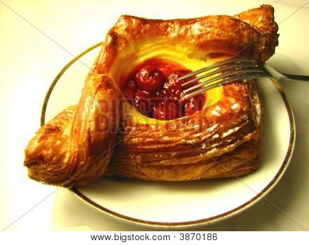 Red Cherry Danish Pastry
