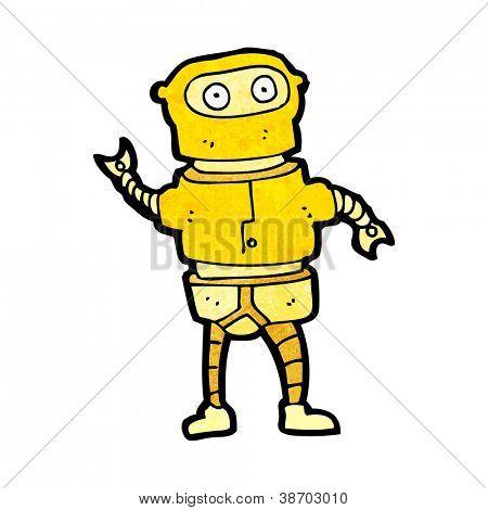 cartoon gold robot costume