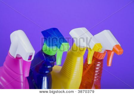 Colorful Spring Cleaning Bottles