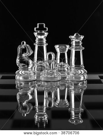 Glass Chess Family