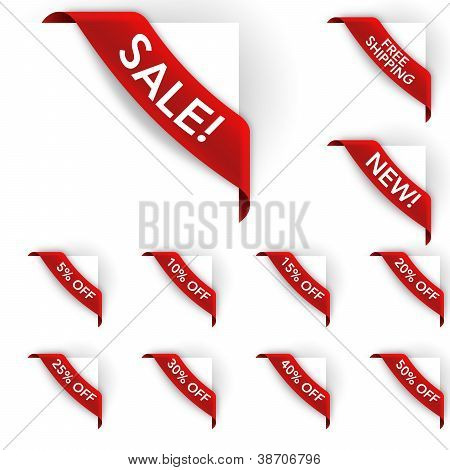 Sale and Discount Corner Labels
