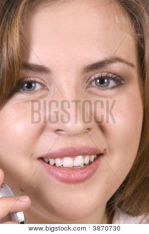Closeup Of Pretty Hispanic Girl