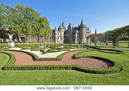 Medieval castle De Haar in the Netherlands