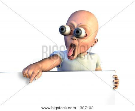 Shocked Baby With Sign Edge