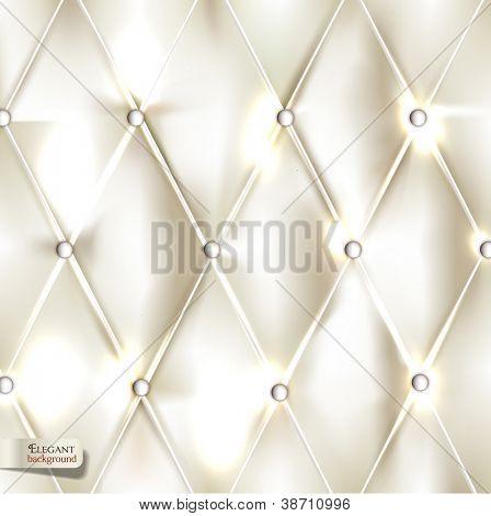 Elegante tapicería blanco. Fondo de Vector
