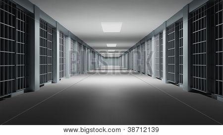 Gefängnis-Interieur