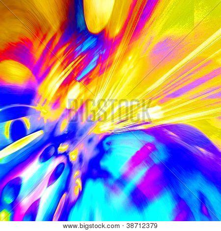 arte abstrata arco-íris de fundo com cores azuis e ouro