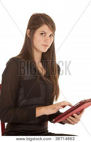 Olhar sério Tablet