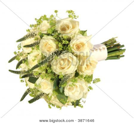Studio Shot Of A Bride\'S Wedding Bouquet