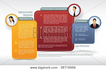 Modern brochure template with avatars and space for other elements