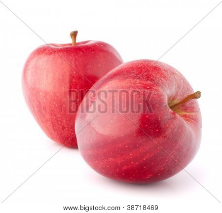 Red apple isolated on white background cutout