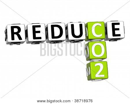 3D Reduce Co2 Crossword