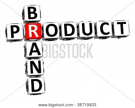 3D Brand Product Crossword