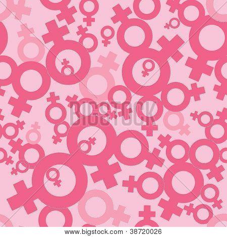 Female symbols (seamless pattern) - Venus signs