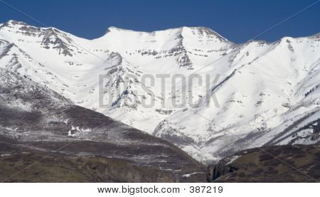 Mount Timpanogos Close-up From West