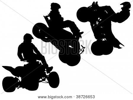 drawing a sports extreme quadbike