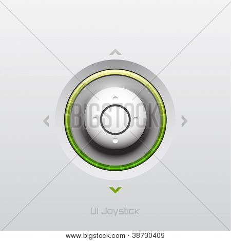 Joystick UI button design with light