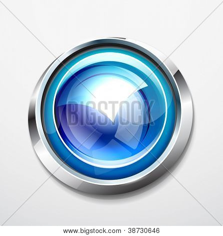 Glossy sphere button