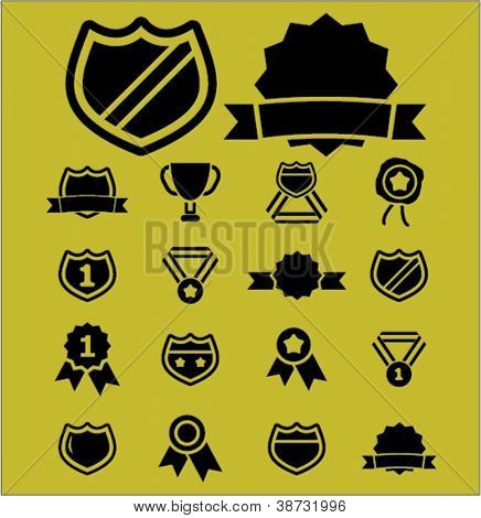 awards & trophy icons set, vector
