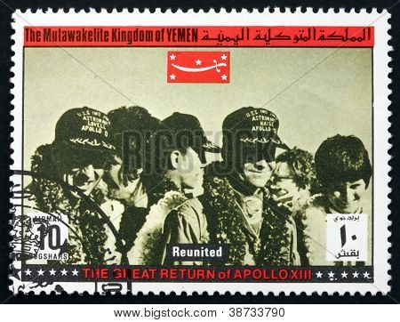 Postage stamp Yemen 1969 Reunited, Apollo XIII