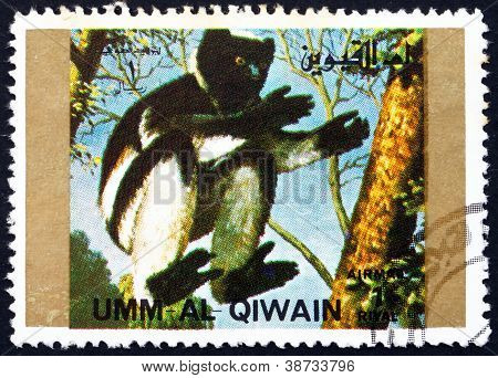 Postage stamp Umm al-Quwain 1972 Monkey, Animal