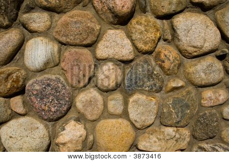 Rock Wall Round Stones