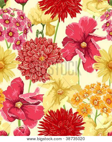 Floral seamless Wallpaper im Aquarell-Stil