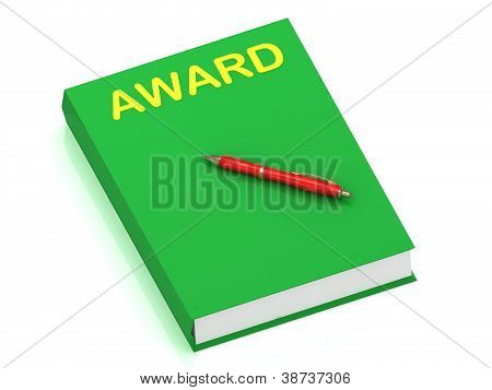 Award Inscription On Cover Book