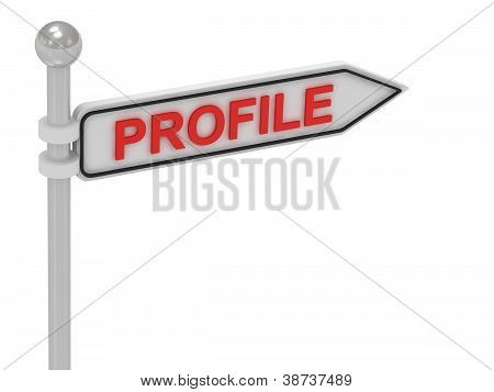 Profile Arrow Sign With Letters