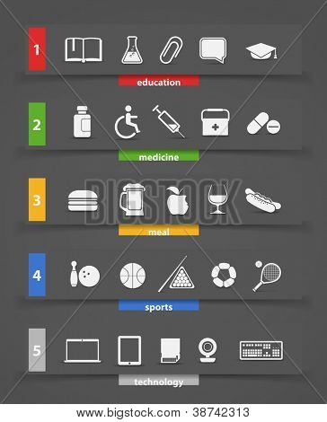 Different icons clip art
