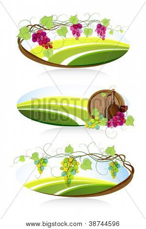 Winemaking emblems and labels. Vector