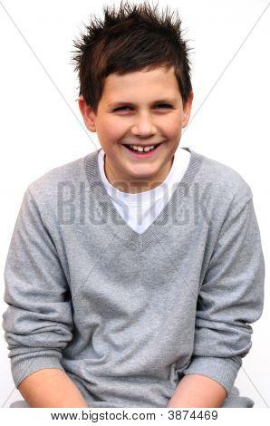 Boy Sitting Down