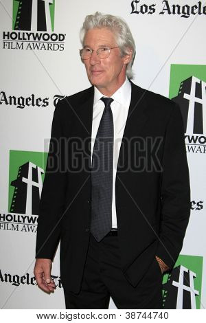 LOS ANGELES - OCT 22:  Richard Gere arrives at  the 2012 Hollywood Film Festival Gala at Beverly Hilton Hotel on October 22, 2012 in Beverly Hills, CA