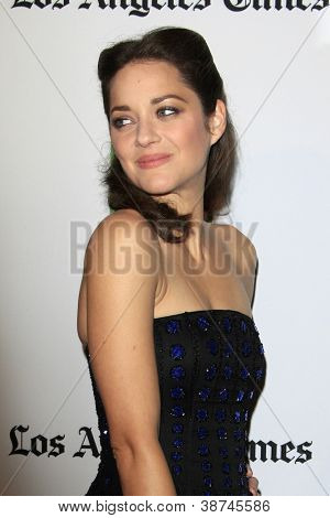 LOS ANGELES - OCT 22:  Marion Cotillard arrives at  the 2012 Hollywood Film Festival Gala at Beverly Hilton Hotel on October 22, 2012 in Beverly Hills, CA