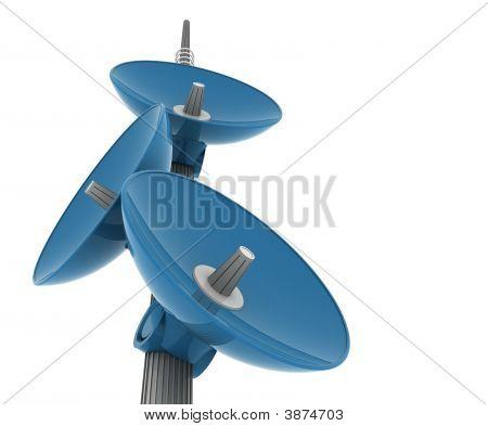 Sattelite Pole Blue