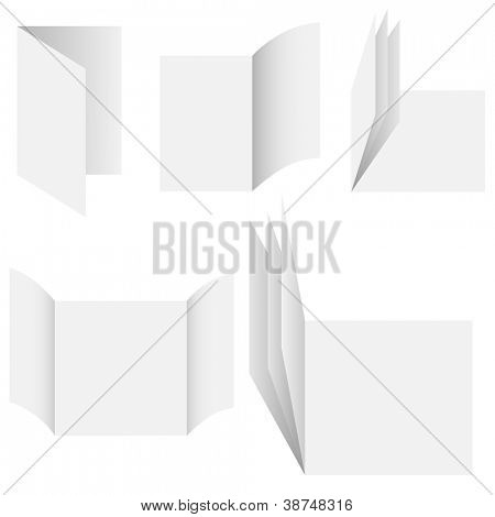 Vector - Illustration of series of blank empty document or cards