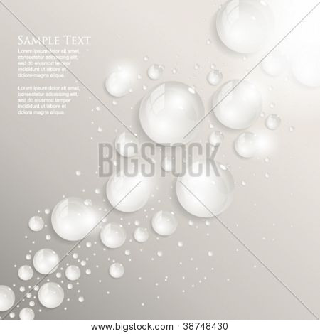 eps10 vector frontal dew drops background