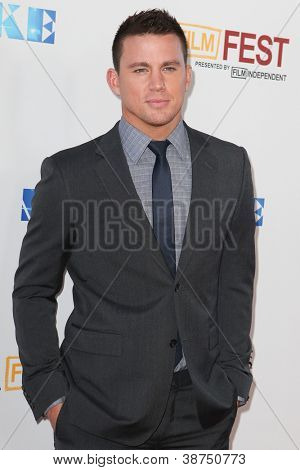 LOS ANGELES, CA - JUNE 24: Channing Tatum arrives at Warner Bros premiere of 'Magic Mike' at Regal Cinemas LA Live on June 24, 2012 in Los Angeles, California.