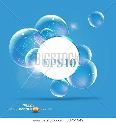 bubbles on a blue background
